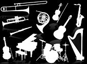 Musical Instruments Silhouettes