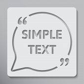 Vector Circle Speech Bubble Quote Blank Template. Empty Template. Template, Information Text. Bracke poster