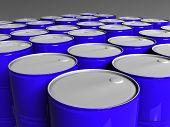 Many Blue Barrels