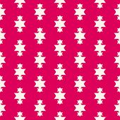 Vector Red Christmas Background. Simple Geometric Seamless Pattern With Star Shapes, Magic Sparkles. poster