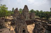 Landscape With Ancient Temple In Angkor Wat Complex, Cambodia. Pre Rup Temple View From Above. Khmer poster