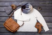 Casual Winter Womens Clothes. poster