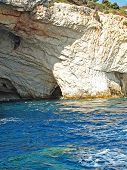 amazing blue caves in Zakinthos island, Greece