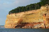 Cliff Wall At Pictured Rocks National Lakeshore