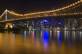 Brisbane City Night Skyline 1