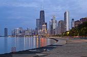 Skyline von Chicago.