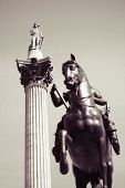 Nelson Column And Charles Statue