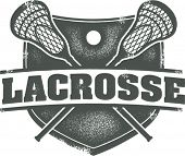 Crista de esporte Lacrosse vintage