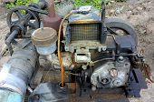 foto of workhorses  - Old agricultural pump in the local Thailand  - JPG
