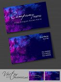 Abstract colorful bright color professional and designer business card template or visiting card set