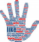 Hands, Which Is Composed Of Text Keywords On Social Media Themes