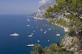 Boats Moored In Capri