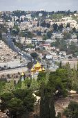 stock photo of church mary magdalene  - Christian Quarter in Jerusalem - JPG