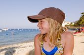 Portrait Of Tween On Beach