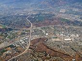 Pomona, Diamond Bar and San Dimas, California aerial.