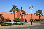 One Of The Royal Palace Gates In Marrakech, Morroco