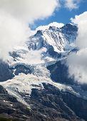 Eiger mountain in the Jungfrau region