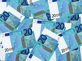 Twenty Euro Background