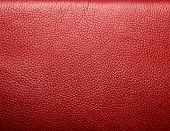 image of raw materials  - Soft wrinkled red leather - JPG