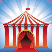 Vector Circus Tent - Bright Icon