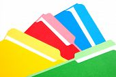 Colored Folders Four Colors Stacked