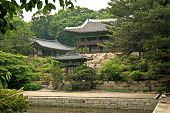 Temple By Lake And Forest Seoul South Korea