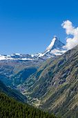 The Zermatt valley in Switzerland