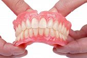 stock photo of prosthesis  - Rehabilitation in case of tooth loss with dental prosthesis - JPG