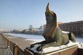 Egyptian Bridge.Sphinx.