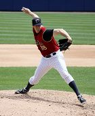 Scranton Wilkes Barre Railriders' Cody Eppley pitches in a game