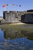 medieval town of concarneau, in the north of france