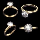 Diamond rings set