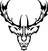 illustration of deer symbol - tattoo