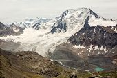 Glacier at Ala-Kul lake. Kyrgyzstan