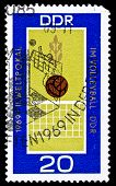 GDR Stamp, Volleybal World Cup