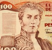 pic of colombian currency  - General Antonio Narino on 100 Pesos 1991 Banknote from Colombia - JPG