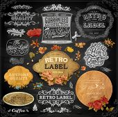 image of vintage antique book  - Vector set of calligraphic vintage elements - JPG