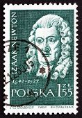 Postage Stamp Poland 1959 Isaac Newton, English Scientist