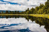 Lake Matheson Near Fox Glacier South Island New Zealand