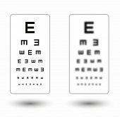 pic of snellen chart  - sharp and unsharp simple snellen chart with one symbol on white background - JPG