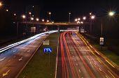 Lublin city night lights