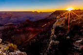 Sunrise on the Magnificent Grand Canyon In Arizona