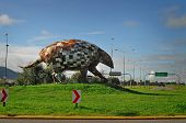 Giant Armadillo Monument North Of Salta City. Argentina.