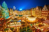 stock photo of weihnachten  - Traditional christmas market in the historic center of Frankfurt - JPG