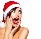 pic of  lips  - Christmas Woman - JPG