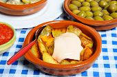 Spanish patatas bravas.