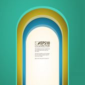 Arch, vector background with arches