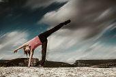 Yoga Practice In Mountain