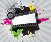 foto of stripping  - Movie background with film strip - JPG