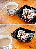 Oatmeal cookies and coffee